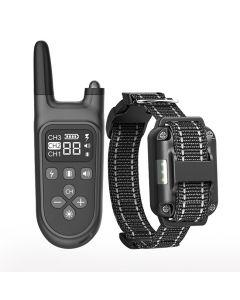 2021 Ny 800m Electric Dog Training Collar Pet Fjärrkontroll Vattentät uppladdningsbar med LCD-skärm för all storlek Shock Vibration Sound