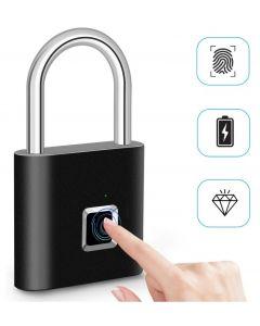 Fingeravtryckslås Smart Hänglås Tumprint Dörrhänglås Portable Anti-Theft Fingeravtryckslås för väska