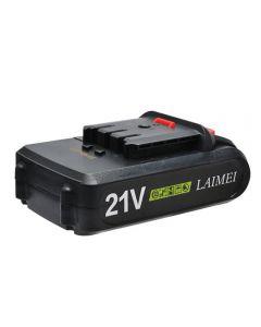 21V litiumbatteri Li-ion Batteri Strömverktyg Uppladdningsbar borr för trådlös skruvmejsel Batteri elektrisk borr