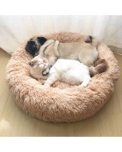 Round Cat Bed House Soft Long Plush Best Pet Dog Bed för Dogs Basket Pet Products Kudde Katt Husdjur Säng Matta Katthus Djur Sofa