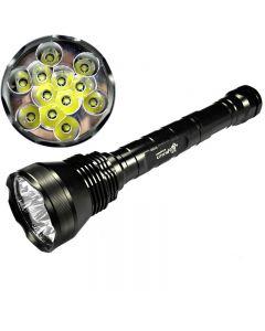 ULTRAFIRE 12T6 CREE XM-L T6 13800 LUMEN 5-MODE HIGH POWER LED-ficklampa