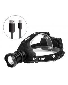 Mest kraftfulla XHP70 LED-strålkastare 8000lm Huvudlampa USB-uppladdningsbart strålkastare Vattentät Zoomfiskljus Använd 18650 Batteri