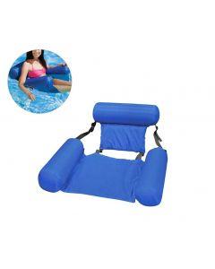Sommar uppblåsbara flytande rad vatten hängmatta uppblåsbara luftmadrass pool strand flytande sovande kudde säng stol