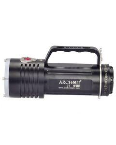 Archon DG60 WG66 6 * CREE XM-L2 U2 LED MAX 5000LM 3 MODES LED Dykljus + 6 * 18650 Batteri + Laddare