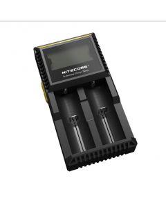 Ny Nitecore D2 Digladdare Batteriladdare LCD-skärm Nitecore laddare för 26650 18650 18350 16340 14500 10440